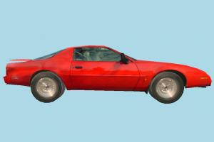 Car Low-poly car, vehicle, sportive, truck, transport, carriage, red, low-poly
