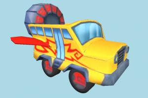 Super Car Cartoon toon, car, bus, super, vehicle, truck, carriage