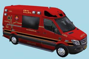 Ambulance Van van, ambulance, flame, fire, mercedes, sprinter, car, bus, vehicle, truck, carriage