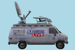 News Van van, vehicle, truck, carriage, car, metro, transit, transport, news, media, communication, radar