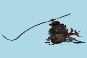 Helicopter Crashed helicopter, aircraft, airplane, plane, broken, crashed, damaged, fired, craft, air, vessel