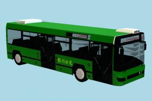 Green Bus bus, van, metro, car, vehicle, truck, carriage, transit