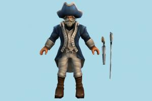 Gangplank Minuteman soldier, warrior, man, people, human, character