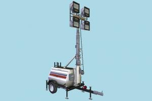 Floodlight Generator crane, light, floodlight, generator, trailer, truck, vessel