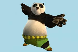 Panda panda, animal-character, kungfu, bear, character, animal, animals, cartoon