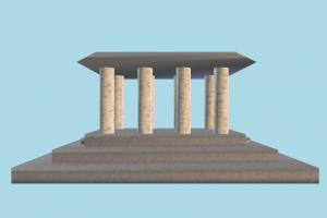 Pavilion pavilion, temple, build, lowpoly, structure