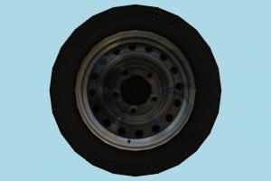 Wheel Tire tire, wheel, wheels, car-parts, car, parts, lowpoly