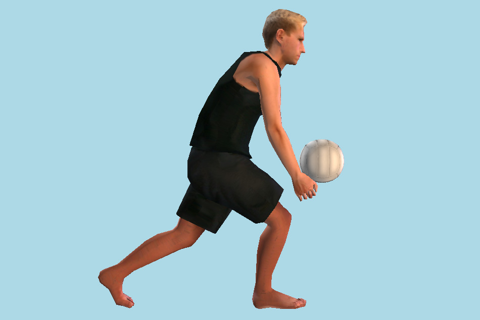 Man with Ball 3d model