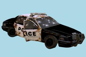 Police Car Damaged police-car, police, car, wrecked, damaged, burned, destroyed, vehicles, ruins, apocalyptic, apocalypse, junk, rusted, yard