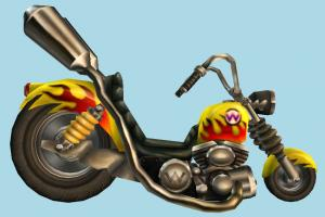 Wario Bike motorbike, bike, motorcycle, motor, cycle, toon, racing, race