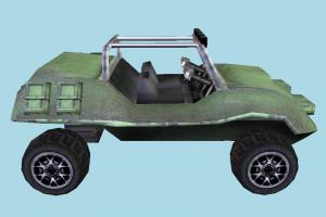 Car junker, jeep, sand-stinger, car, truck, vehicle, carriage, wagon, lowpoly