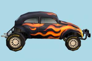 Sand-Stinger Car sand-stinger, junker, car, truck, vehicle, carriage, wagon, lowpoly