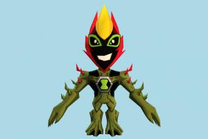 Vilgax FusionFall Ben10, ben, ten, character, monster, cartoon
