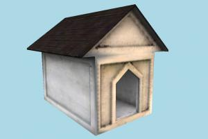 Dog House doghouse, dog, house, home, barn, farm, country, lowpoly, structure