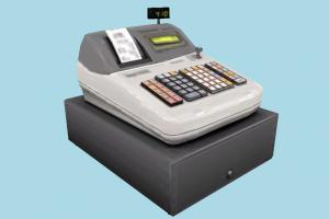 Cashier cash, cashier, register, super-market, super, market, money, box, lowpoly, calculator, tax, vat, fee, fees, invoice, cashout, checkout, accounting