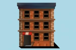 Building building, cartoon, lowpoly, build, market, home, structure