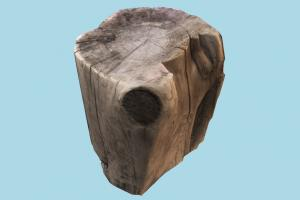 Wooden Stump log, wood, wooden, tree, coal, photogrammetry