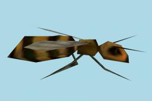 Bee bee, fly, housefly, bugs, insects, lowpoly