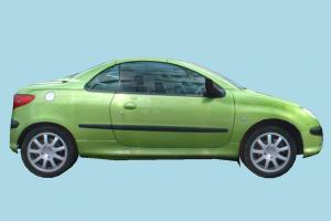 Car Low-poly car, truck, vehicle, transport, carriage, green, low-poly