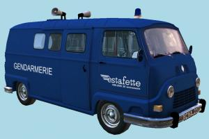 Gendarmerie Van van, car, bus, vehicle, truck, carriage
