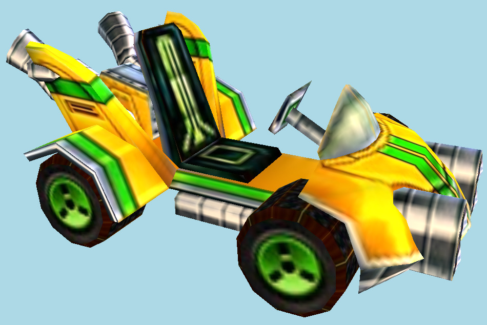 Crash Nitro Kart N. Oxide Team Bike 3d model