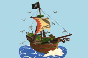 Pirate Ship pirate-ship, galleon, boat, sailboat, greek, pirate, ship, watercraft, vessel, wooden, maritime, cartoon