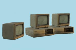 Monitors monitor, screen, computer, abandoned, lab, cpu, technic, dirty, 1980s, dusty, pc, device, electronic, machine, retro, old