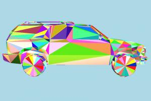 Blazer Car - 3D Land Transport