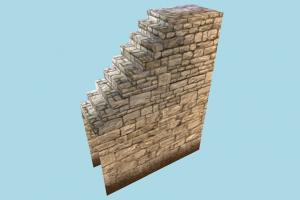 Stairs stair, wall, stronghold, castle, tower, build, structure