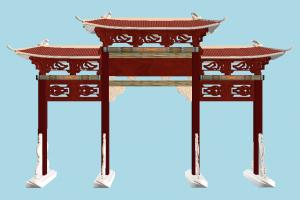 Gate pavilion, japanese, chinese, gate