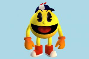 Pac Man Jr. pac-man, pac, man, character, cartoon, toony, toons, toy