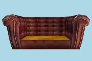 Couch sofa, couch, settee, divan, seat, chair, bench, couch, furniture, lowpoly