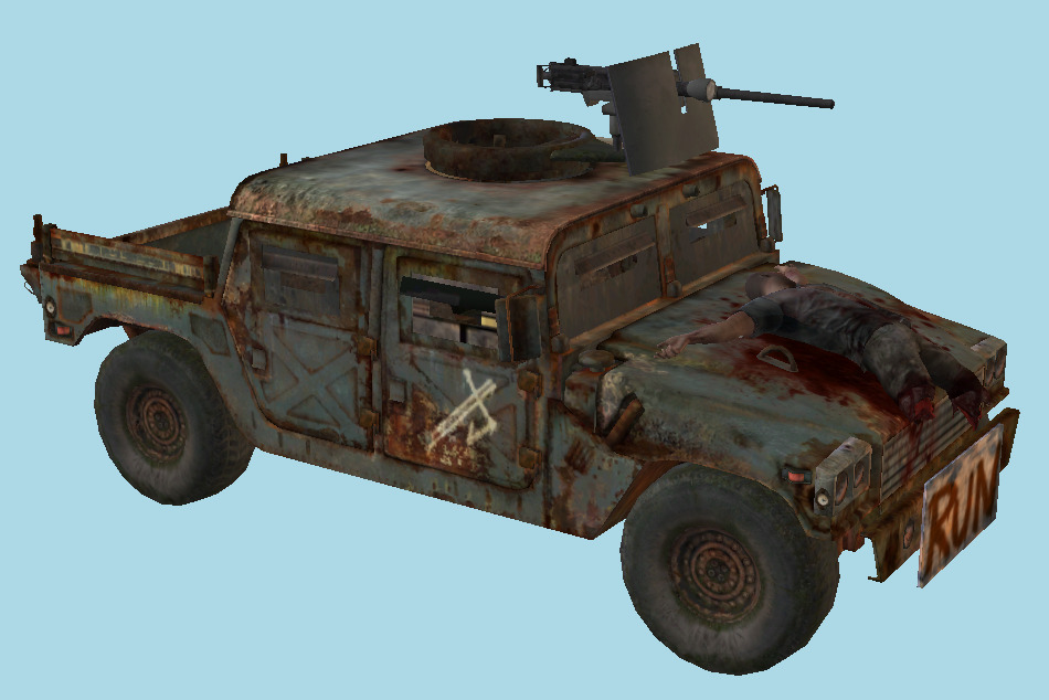 The Last Of Us - TLOU Hunter Humvee Jeep Jeep Car 3d model