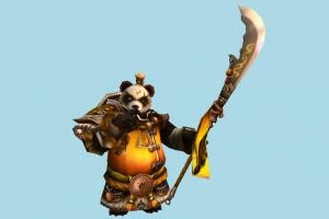 Panda Warrior panda-warrior, panda, animal-character, bear, character, animal, animals, cartoon