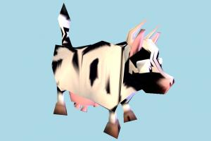 Cow Low-poly cow, animal, animals, wild, nature, mammal, ruminant, milk, low-poly