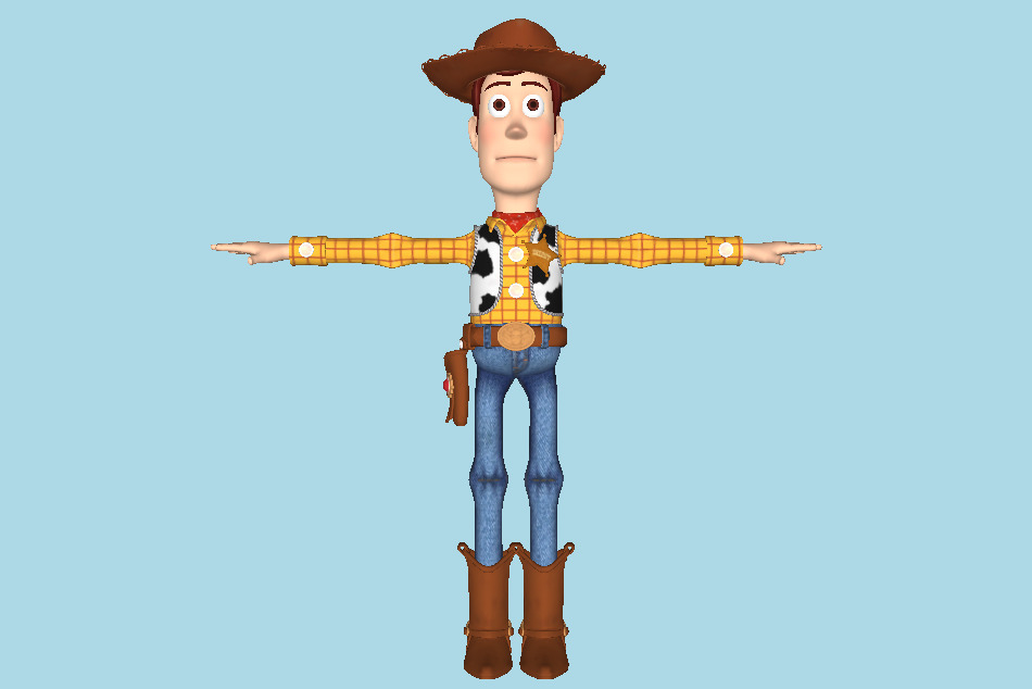 Kingdom Hearts 3 - Sheriff Woody 3d model