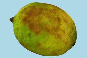 Lemonade fruit, lemonade, fruits, food, green, bad, prop, rough, snack, realistic, rotten, lime, ripe, bruised, photogrammetry, dimpled