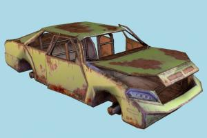 Car car-body, car, abandoned, ruins, sedan, post-apocalyptic, rusted, destroyed, carcass, burned, vehicle, sci-fi