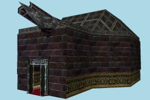 Dungeon castle, dungeon, house, gate, building, build, structure, internal