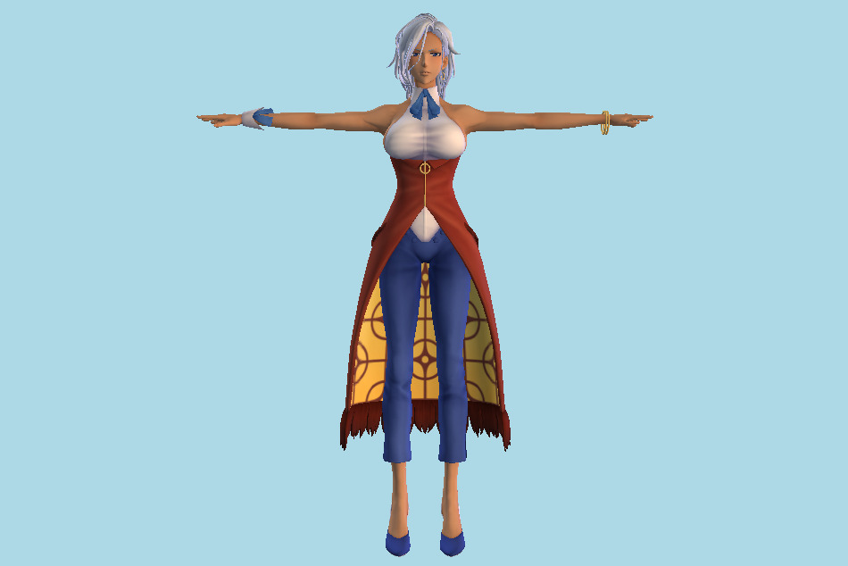 Shin Sakura Wars : Anastasia Palma Girl 3d model