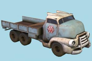 Heavy Truck abandoned, truck, vehicle, old, heavy, rusty, vegas, destroyed, wrecked, lkw, lorry, flatbed, fallout