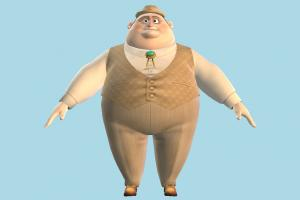 NUT JOB - Mayor NUT-JOB, old-man, fat, man, male, aged, people, human, character, cartoon, toony