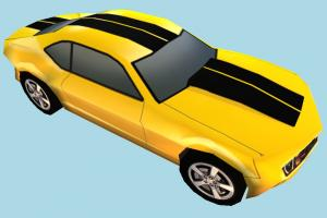 Camero Car Low-poly car, vehicle, camero, truck, transport, carriage, low-poly