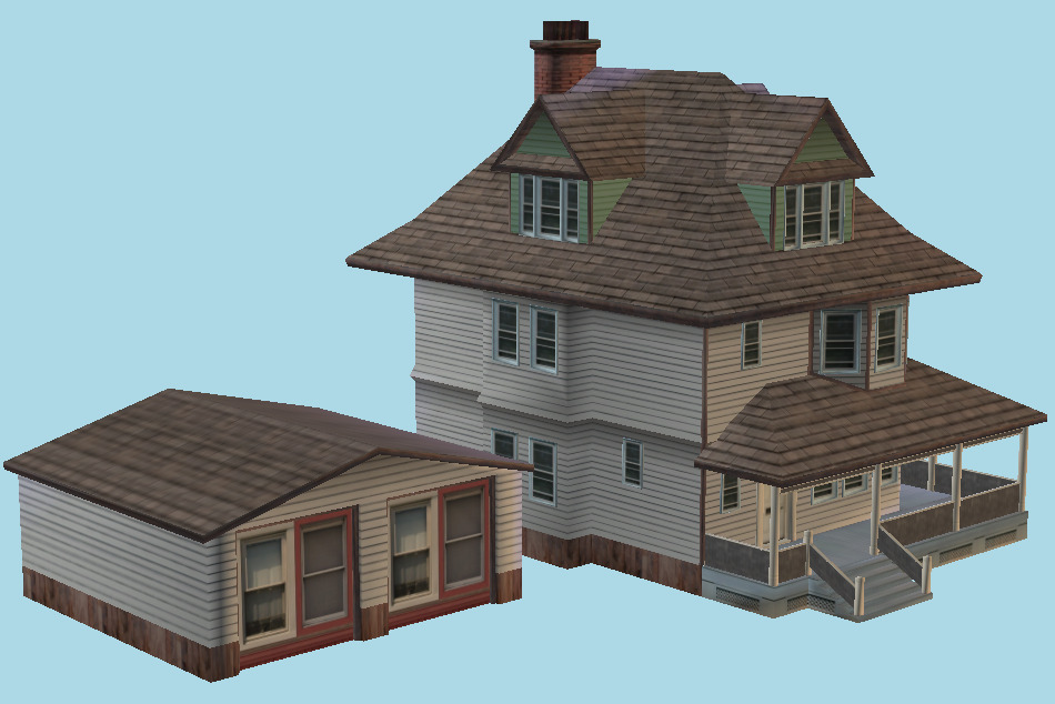 House Building City 3d model