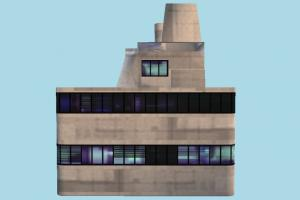 Building house, home, building, city, build, apartment, flat, residence, domicile, structure, lowpoly, skytower