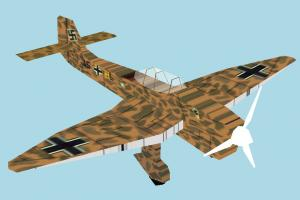 Warplane warplane, military-plane, aircraft, airplane, plane, fighter, combat, military, craft, air, vessel, lowpoly