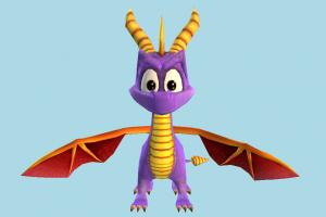 Spyro spyro, dragon, monster, animal, animals, cartoon