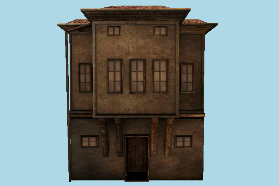 Small City Building House 3d model