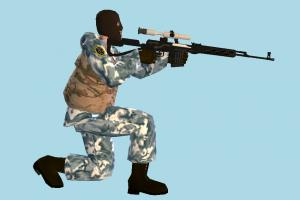 Sniper sniper, counter, strike, army-man, army, man, male, people, human, character, sitting