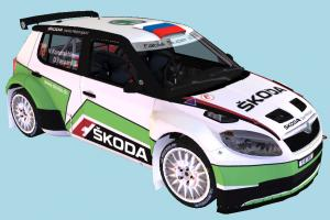 Racing Car wrc, skoda, racing, race, car, speed, fast, vehicle, carriage